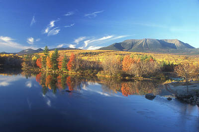 Mount Katahdin From Abol Bridge Art Print by John Burk
