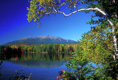 Mount Katahdin From Touge Pond Art Print by John Burk