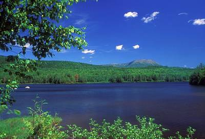 Mount Katahdin Horserace Brook Penobscot River Art Print by John Burk