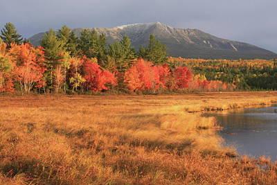 Mount Katahdin October Morning Art Print by John Burk