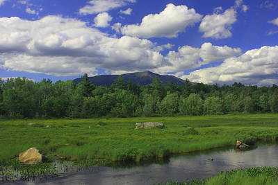 Mount Katahdin Summer Art Print by John Burk