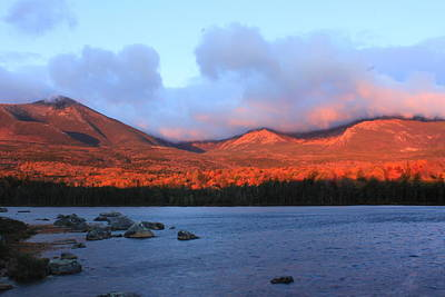 Mount Katahdin Sunrise Art Print by John Burk