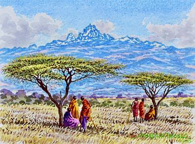 Painting - Mount Kenya 2 by Joseph Thiongo
