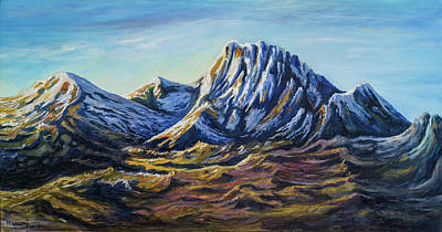 Painting - Mount Kenya In The Morning by Anthony Mwangi