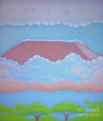 Painting - Mount Kilimanjaro by Assumpta Tafari Tafrow Neo-Impressionist Works on Paper