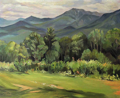 Painting - Mount Lafayette From Sugar Hill New Hampshire by Nancy Griswold
