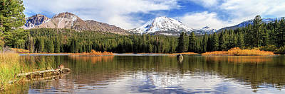Mount Lassen Autumn Panorama Art Print by James Eddy