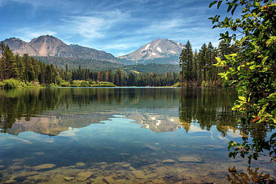 Mount Lassen From Manzanita Lake Art Print by James Eddy