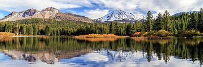 Photograph - Mount Lassen Reflections Panorama by James Eddy