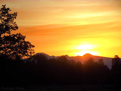 Photograph - Mount Lassen Sunrise 03 23 15 II by Joyce Dickens