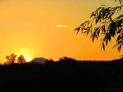 Photograph - Mount Lassen Sunrise At The Ranch by Joyce Dickens