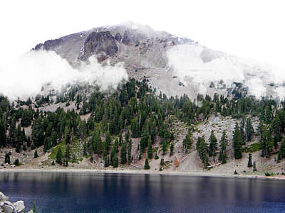 Photograph - Mount Lassen Volcano In The Clouds by Frank Wilson