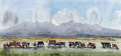Painting - Mount Livermore West Of Ft Davis Tx by Tim Oliver