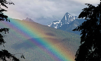 Photograph - Mount Loki Rainbow by Cathie Douglas