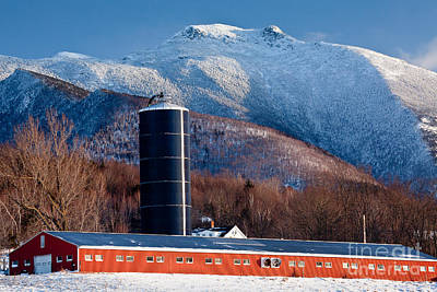 Photograph - Mount Mansfield And Red Barn 2 by Susan Cole Kelly