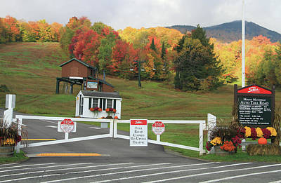 Photograph - Mount Mansfield Auto Toll Road In Fall by Dan Sproul