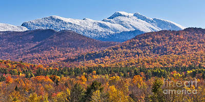 Photograph - Mount Mansfield Autumn Snow by Alan L Graham