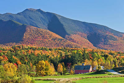 Photograph - Mount Mansfield Autumn View by Alan L Graham