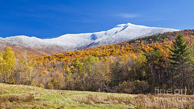 Photograph - Mount Mansfield Early Snowfall by Alan L Graham