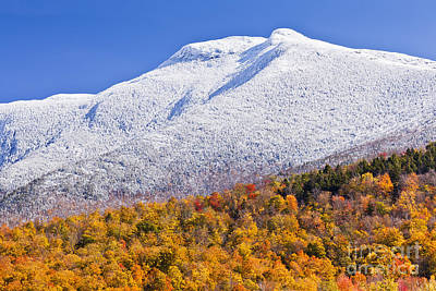 Photograph - Mount Mansfield October Snow by Alan L Graham