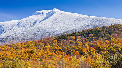 Photograph - Mount Mansfield Seasonal Transition by Alan L Graham