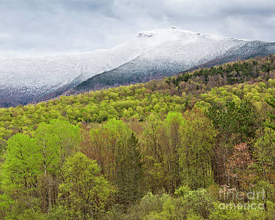 Photograph - Mount Mansfield Spring Snow by Alan L Graham