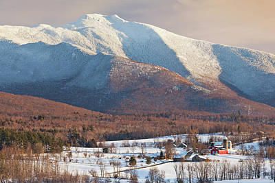 Photograph - Mount Mansfield Winter Afternoon by Alan L Graham