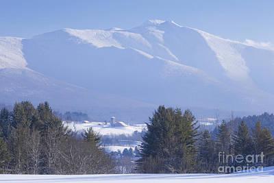 Photograph - Mount Mansfield Winter Haze by Alan L Graham