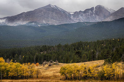 Photograph - Mount Meeker And Longs Peak Autumn Scenic View by James BO Insogna
