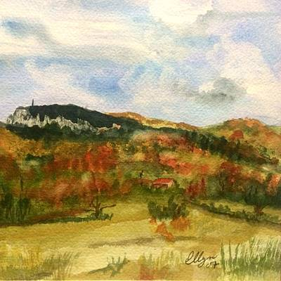 Painting - Mount Mohonk New Paltz Autumn by Ellen Levinson
