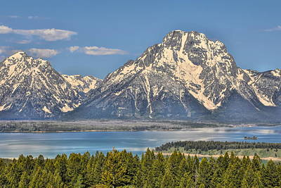 Photograph - Mount Moran And Snake River by Dan Sproul