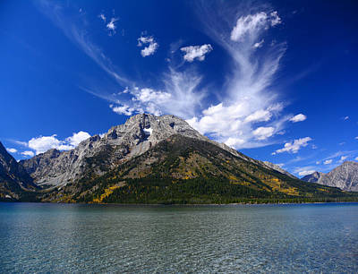 Photograph - Mount Moran From Leigh Lake by Raymond Salani III