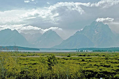 Photograph - Mount Moran From Willow Flats In Grand Tetons National Park, Wyoming by Ruth Hager