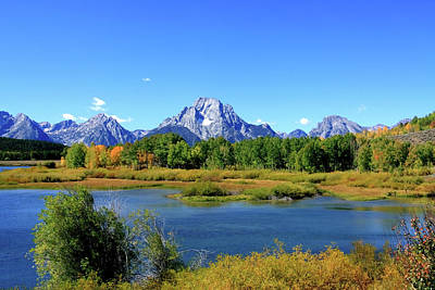 Photograph - Mount Moran, Grand Tetons National Park, Wyoming  by Aidan Moran