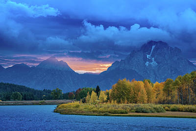Mountins Photograph - Mount Moran Sunset by Christian Heeb