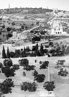 Photograph - Mount Of Olives 1896 by Munir Alawi