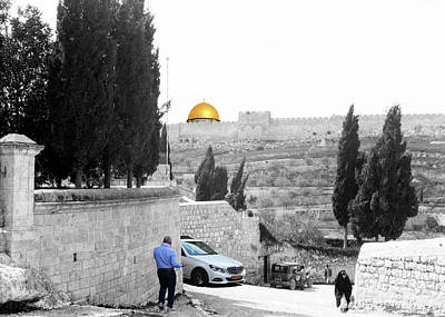 Photograph - Mount Of Olives 1920 by Munir Alawi