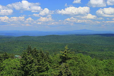 Photograph - Mount Ogla Green Mountains View To Monadnock by John Burk
