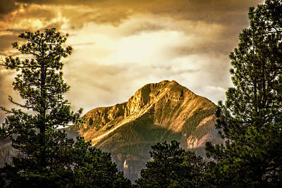 Photograph - Mount Pagosa Gold by Mike Braun
