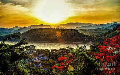 Photograph - Mount Phousi Luang Prabang Cambodia by Rene Triay Photography