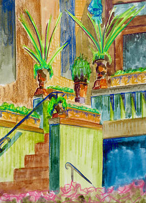 Washington Dc Neighborhoods Painting - Mount Pleasant Entryway by Bethany Lee