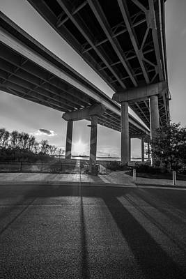 Photograph - Mount Pleasant Waterfront Park Black And White by Donnie Whitaker