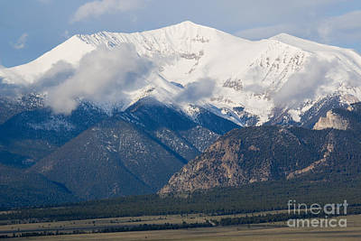 Steve Krull Royalty-Free and Rights-Managed Images - Mount Princeton in the Collegiate Peaks Wilderness by Steve Krull