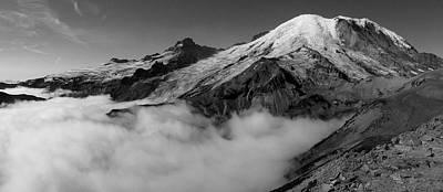 Mount Rainier Above The Clouds Art Print