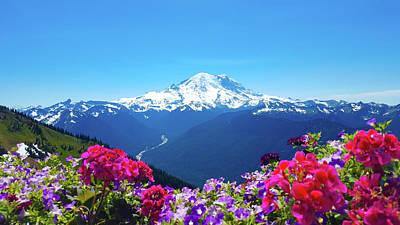 Mt Rainier Wall Art - Photograph - Mount Rainier by Art Spectrum