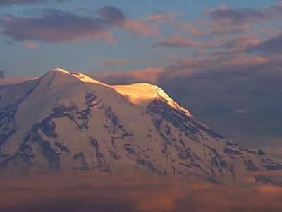 Photograph - Mount Rainier At Sunset by Jacklyn Duryea Fraizer
