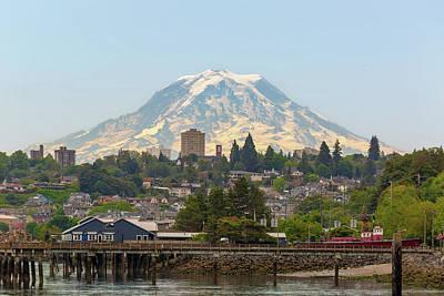 Wall Art - Photograph - Mount Rainier At Tacoma Waterfront by David Gn