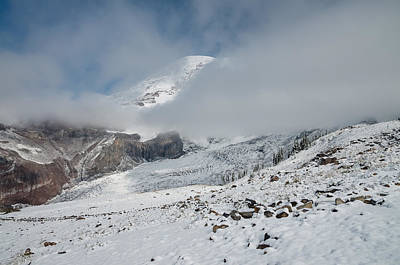 Photograph - Mount Rainier Behind Clouds 1 by Greg Nyquist