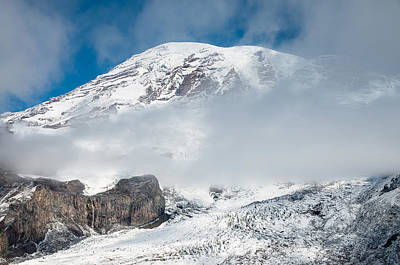 Photograph - Mount Rainier Behind Clouds 3 by Greg Nyquist