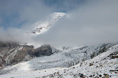 Photograph - Mount Rainier Behind Clouds 4 by Greg Nyquist